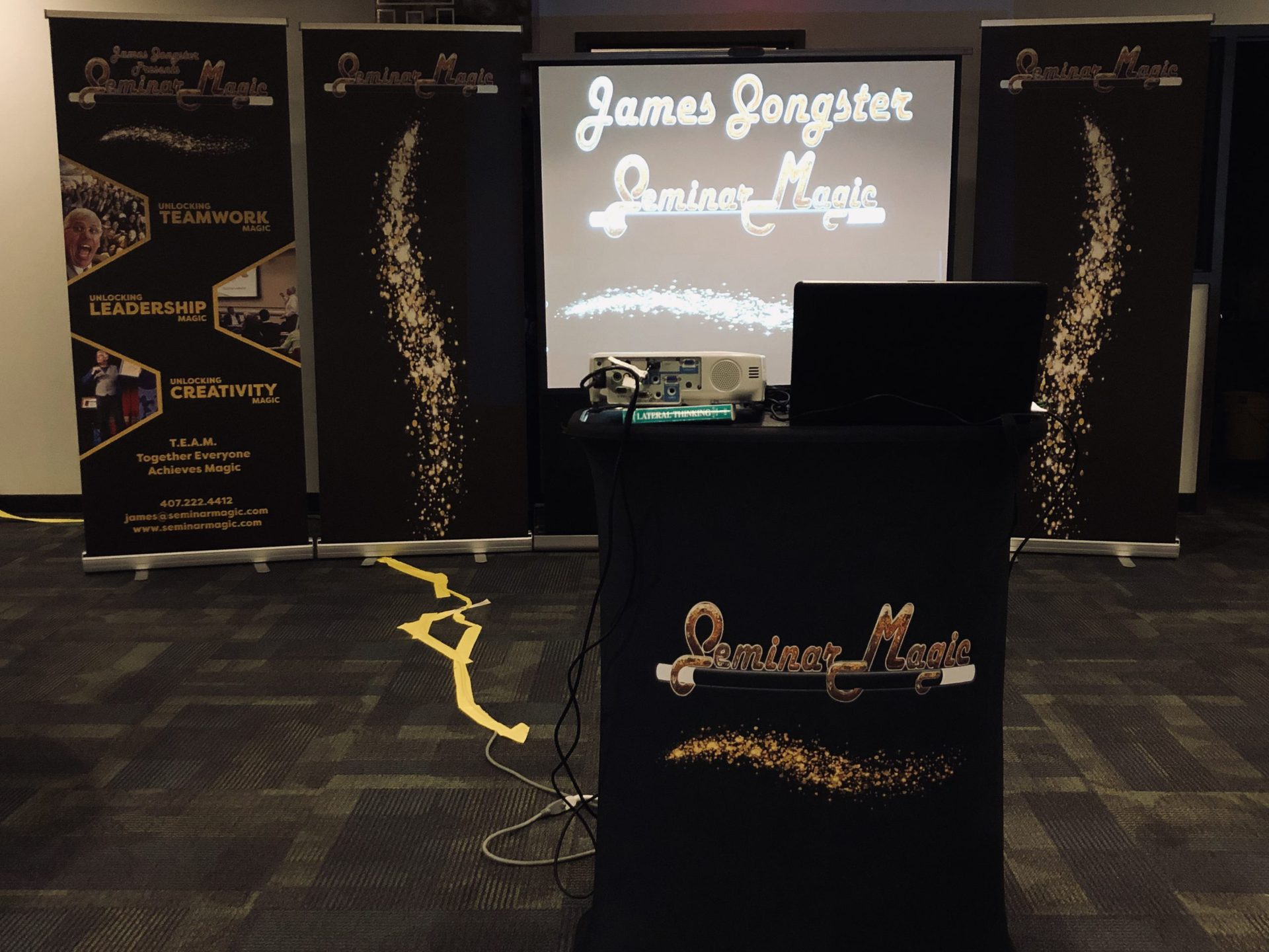 James Songster presents Seminar Magic in a Powerpoint